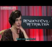 LEGENDADO: Resident Evil Retribuição - 987Tv entrevista Milla Jovovich