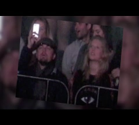 Leonardo DiCaprio Cuddles Victoria's Secret Girlfriend Toni Garrn at Kanye West Concert