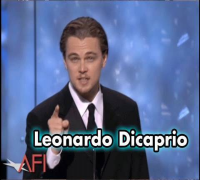 Leonardo Dicaprio Salutes Robert De Niro at the AFI Life Achievement Award