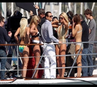 Leonardo DiCaprio's Party Time with bikini-clad blondes