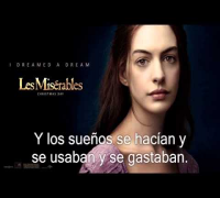 Les Misérables -I Dreamed a Dream Anne Hathaway (subtitulado)