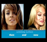 Lindsay Lohan - Then and NOW  2012 -face morph over the years-