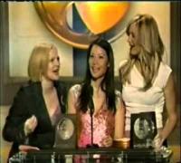 Lucy, Drew & Cameron win Blockbuster Award 2001