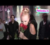 Malin Akerman shares her love of Bart Simpson while greeting fans at Sayers Club in Hollywood