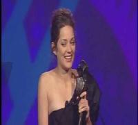 Marion Cotillard receiving an award