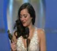 Marion Cotillard winning Best Actress