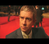 Martin Freeman at Hobbit premiere: Hilarious interview covers Benedict Cumberbatch's drinking