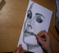 Me drawing Natalie Portman