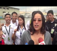 Michelle Rodriguez and cast arrive in Manila
