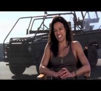 Michelle Rodriguez and Gina Carano Fast and Furious 6 Cast Part 2