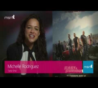 Michelle Rodriguez answering my question by Skype, Thanks MSN UK