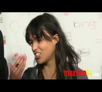 "Michelle Rodriguez Interview at ""Global Home Tree"" Event"