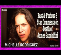 Michelle Rodriguez Reacts to News of James Gandolfini's Death H2950