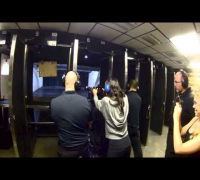 Michelle Rodriguez shoots at MGV! #vegas