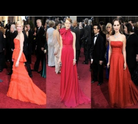 Michelle Williams, Emma Stone, and Natalie Portman Heat Up the Oscars in Shades of Red