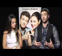 Mila Kunis and Justin Timberlake at FWB Press Conference in Moscow