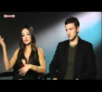 Mila Kunis and Justin Timberlake interviewed by Sky Living