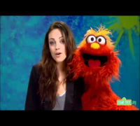 Mila Kunis in Sesame Street (Counting to ten)