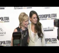 Mila Kunis & Kate White at Cosmopolitan Party