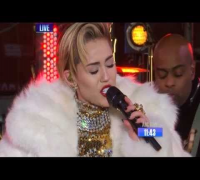Miley Cyrus - New Year's Rockin' Eve - #GETITRIGHT & Wrecking Ball [HD]