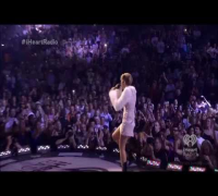 Miley Cyrus performing on the iHeartRadio Music Festival 2013