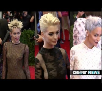Miley Cyrus vs. Nicole Richie vs. Anne Hathaway -- Punk Hair at Met Ball 2013!