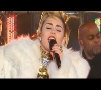 "Miley Cyrus ""Wrecking Ball & Get it Right"" New Year's Eve 2014 Performance (NYC) HD"