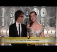 Milla Jovovich at  68º Golden Globe awards