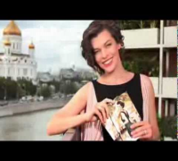 Milla Jovovich For Avon - Backstage from Moscow 2012