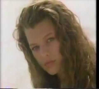 Milla Jovovich making of photoshoot 1988