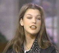 Milla Jovovich on Live with Regis and Kathie Lee in 1991