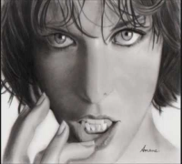 Milla Jovovich-Pencil Drawing / Amane