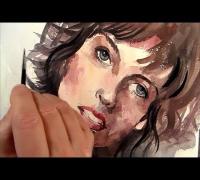 Milla Jovovich, Portrait Painting