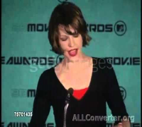 Milla Jovovich Press-conference at 1998 MTV Movie Awards