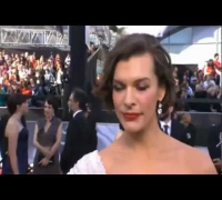Milla Jovovich - Red Carpet at the Oscars 2012