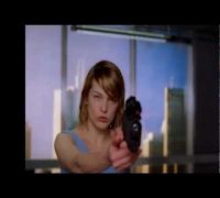 Milla Jovovich training with her daughter resident evil movie afterlife Behind the Scenes