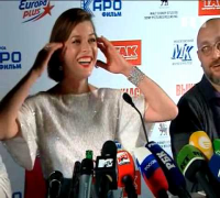 Milla Jovovich visits Moscow for movie premiere