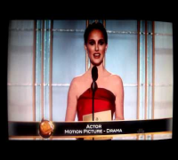 Natalie Portman 2012 Golden Globes Presenter HD