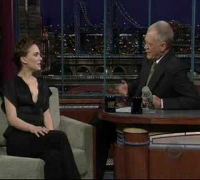 Natalie promoting V for Vendetta on David Letterman