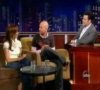 Neil Strauss picks up Jessica Alba on Jimmy Kimmel