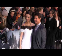 Olga Kurylenko and Tom Cruise attend the 'Oblivion'