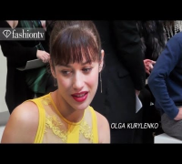 Olga Kurylenko Front Row at Elie Saab - Paris Couture Fashion Week Spring 2012 | FashionTV - FTV
