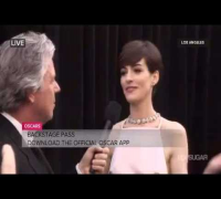 Oscar Awards 2013: Live Stream   Interview Anne Hathaway