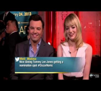 Oscar Nominations 2013: Seth MacFarlane, Emma Stone Interview