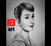 Портрет Одри Хепберн Сухая кисть. Speed Drawing Portrait Audrey Hepburn