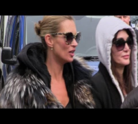 Paparazzi 'Attack' on Kate Moss in Paris - 11 Scooters in Tow!