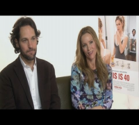 Paul Rudd and Leslie Mann claim their This Is 40 co-star Megan Fox is not a real person
