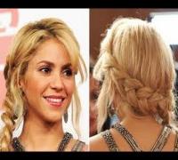 Peinado Inspirado en Shakira trenza de primavera  Moño de moda