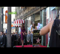 Penelope Cruz en el paseo de la Fama Hollywood