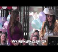 Penelope Cruz, Johnny Depp at Star Ceremony on Hollywood Walk of Fame